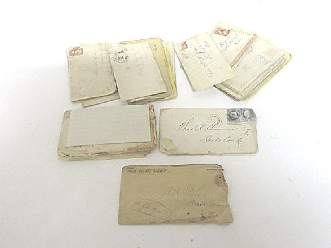 19th C. Western Letters, Receipts and other Ephemera