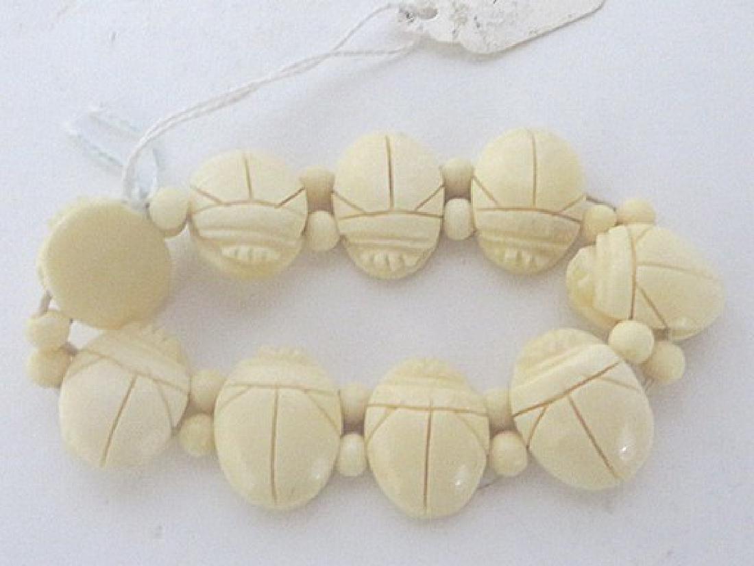 Bakelite Scarab Bracelet