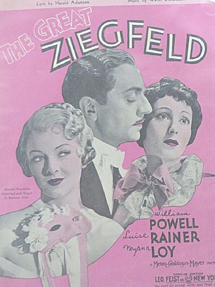 Sheet Music and Movie Still. The Great Ziegfield