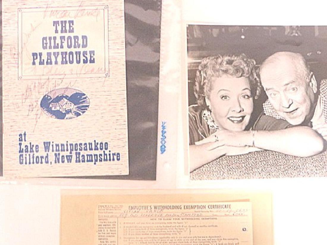 Vivian Vance Autographs (2) and Photograph