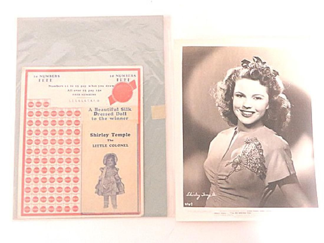 Shirley Temple Advertising Punch Board & Photograph (2)