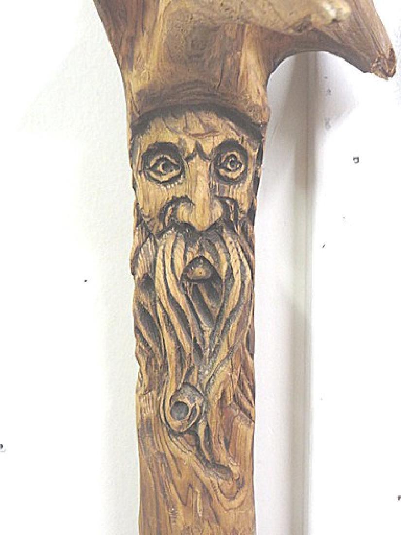 European Wood Carved Shillelagh