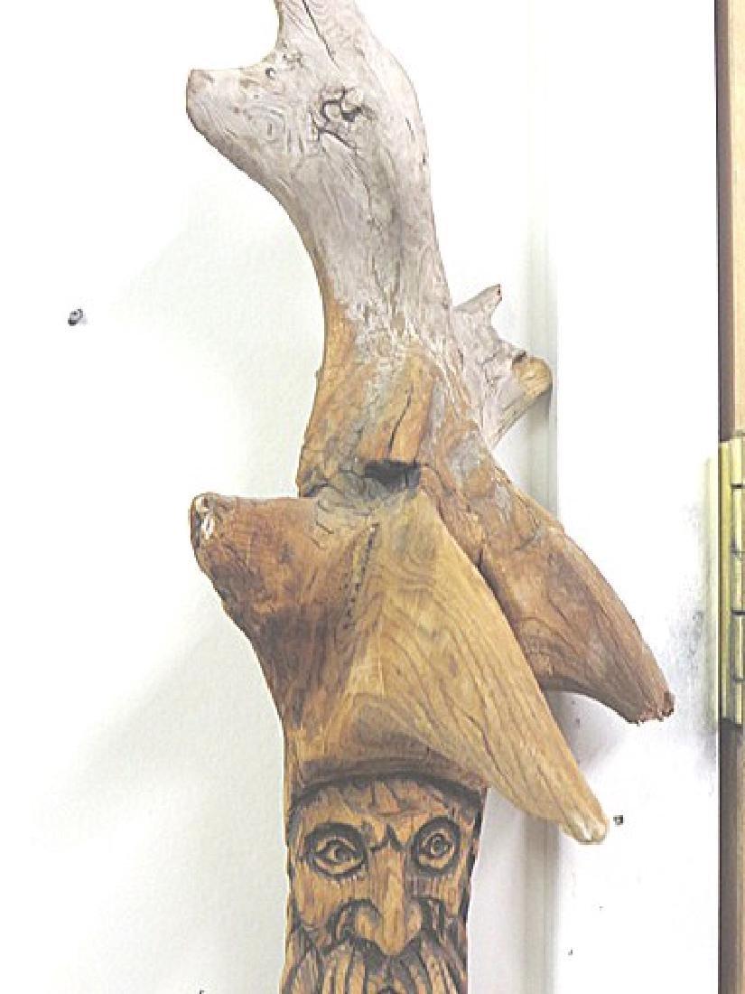 European Wood Carved Shillelagh - 2