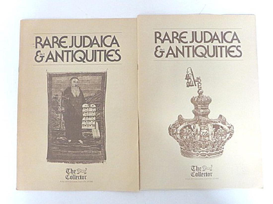 Rare Judaica Antiquities Catalogues. (2) - 3