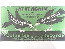 Columbia Records Advertising Sign on Paper