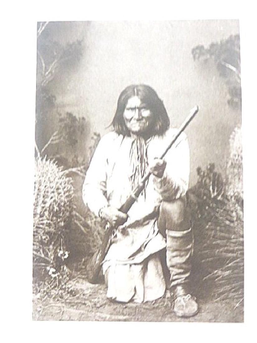 Indian Photograph. Cardboard Stock