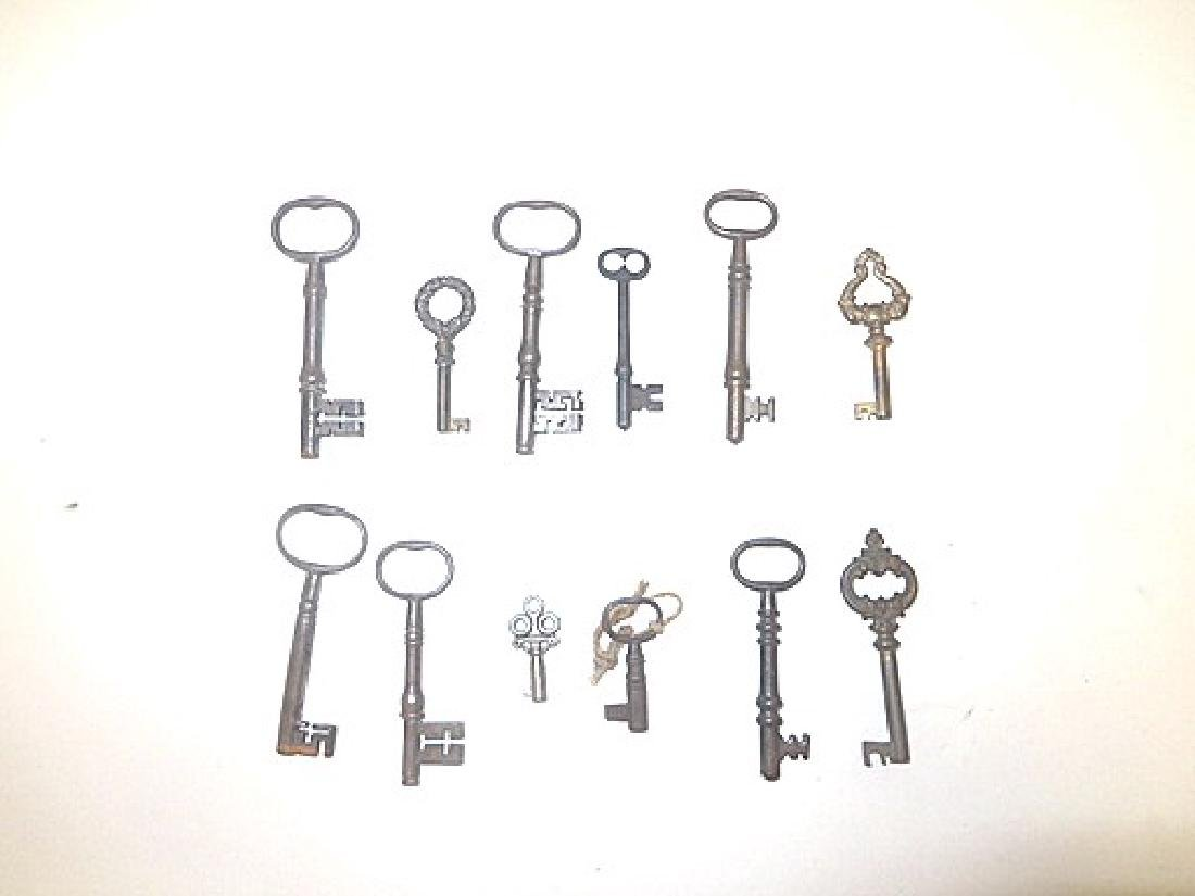 Collector's Lot of 19th C. Keys,
