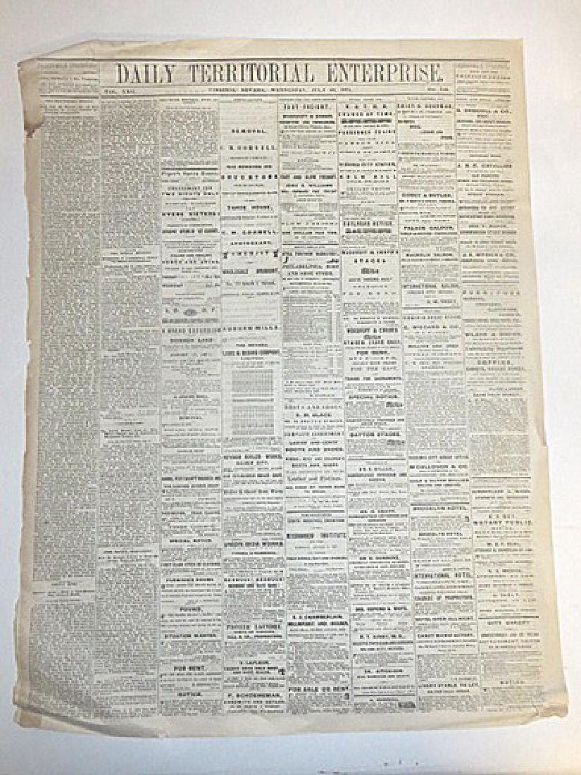 Antique Western  Newspaper Lot  1871-1890 (4) - 2