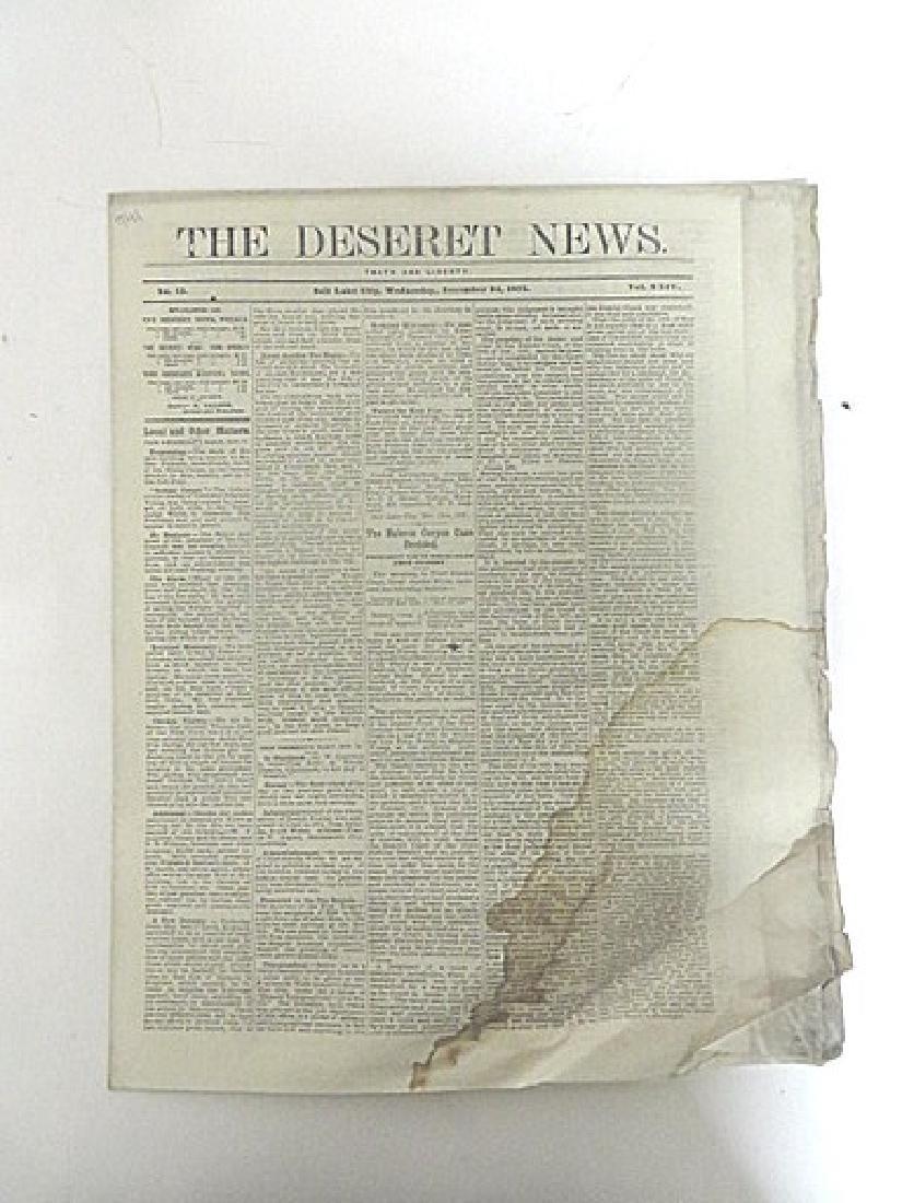 Antique Newspaper Lot  1835-1887 (6)