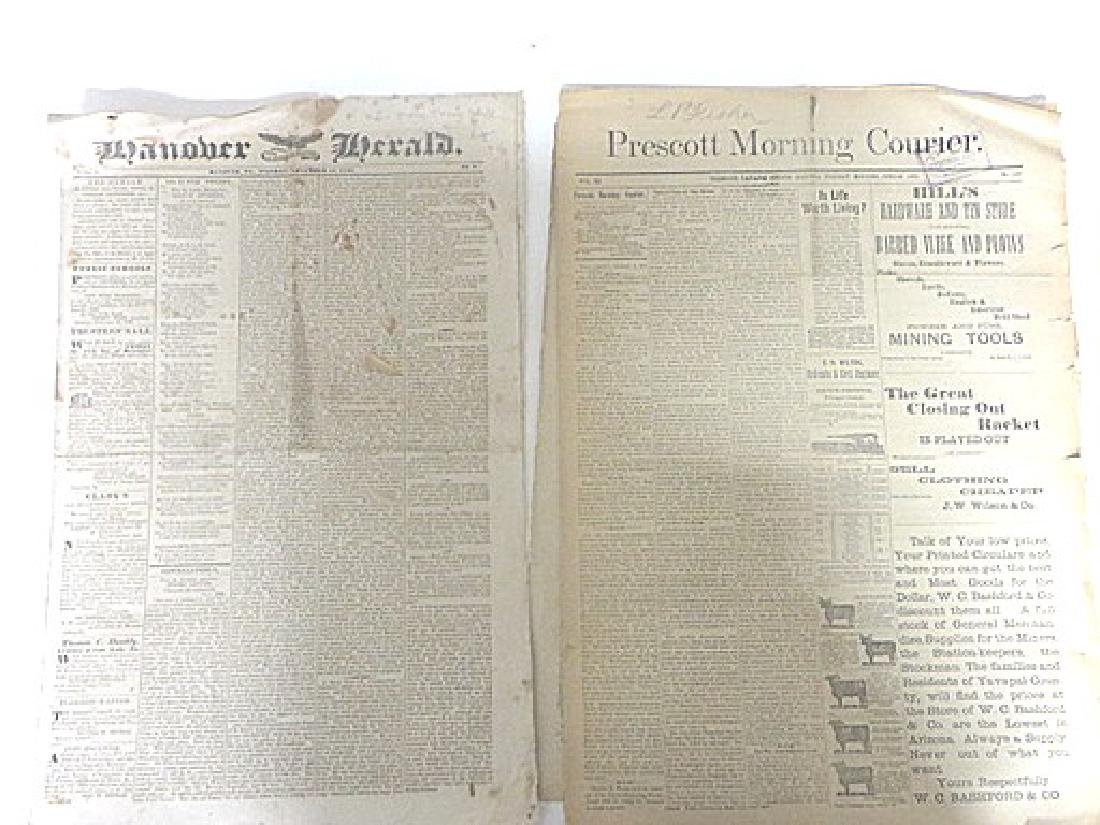 Antique Newspaper Lot  1835-1887 (6) - 3