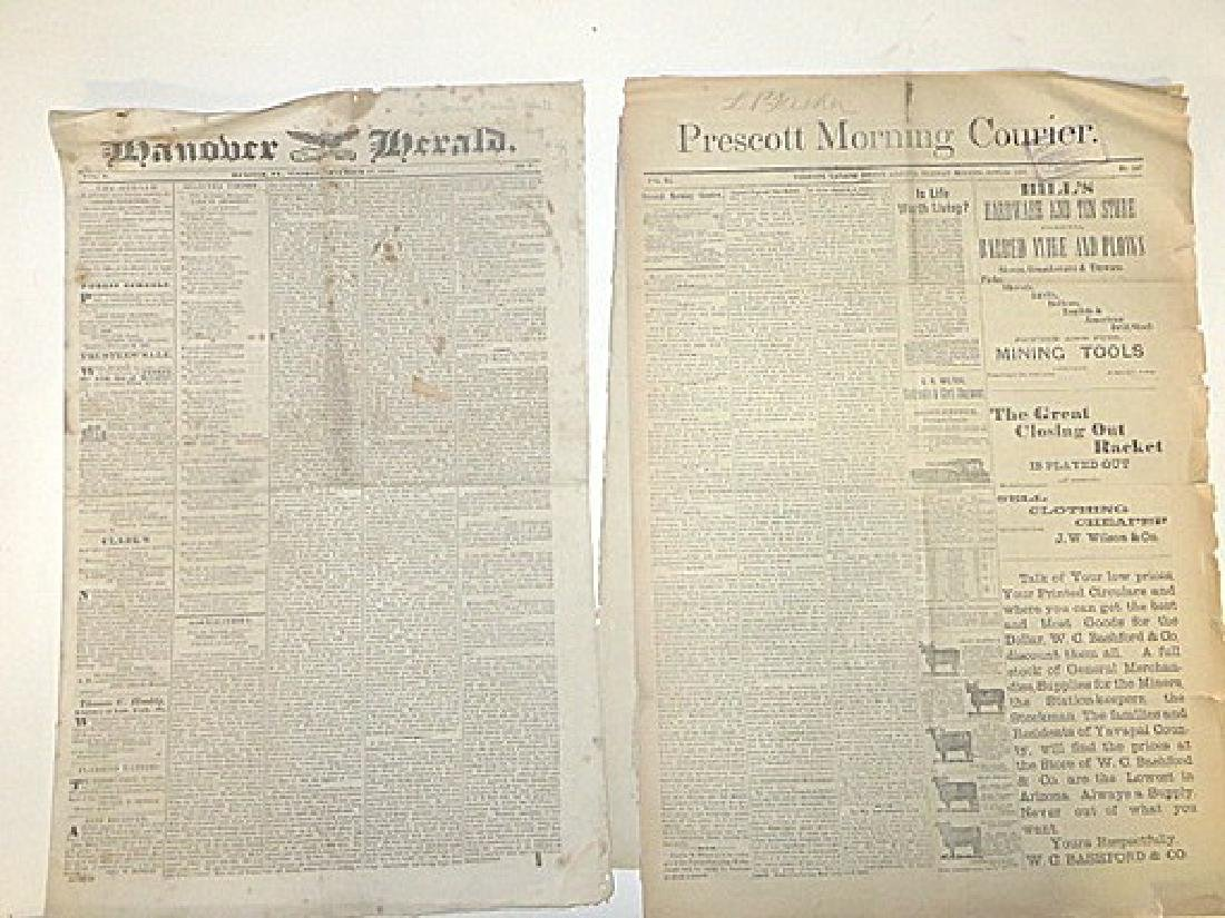 Antique Newspaper Lot  1835-1887 (6) - 4
