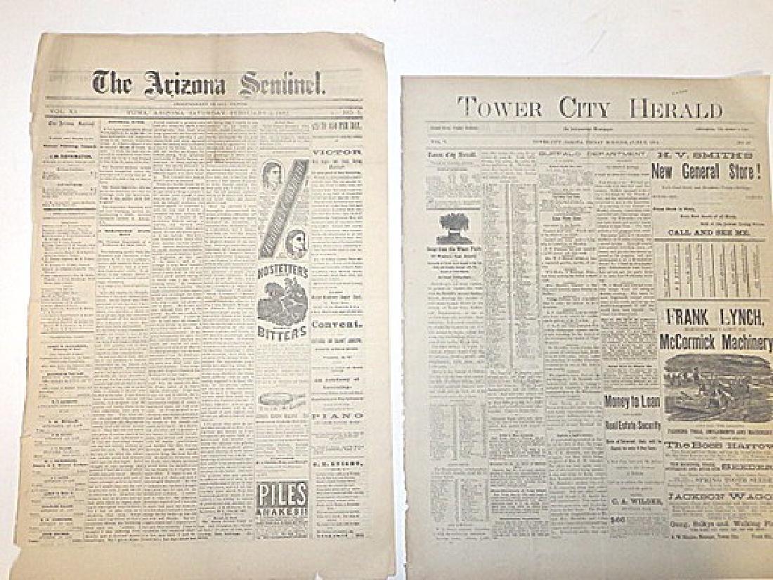 Antique Newspaper Lot  1835-1887 (6) - 5