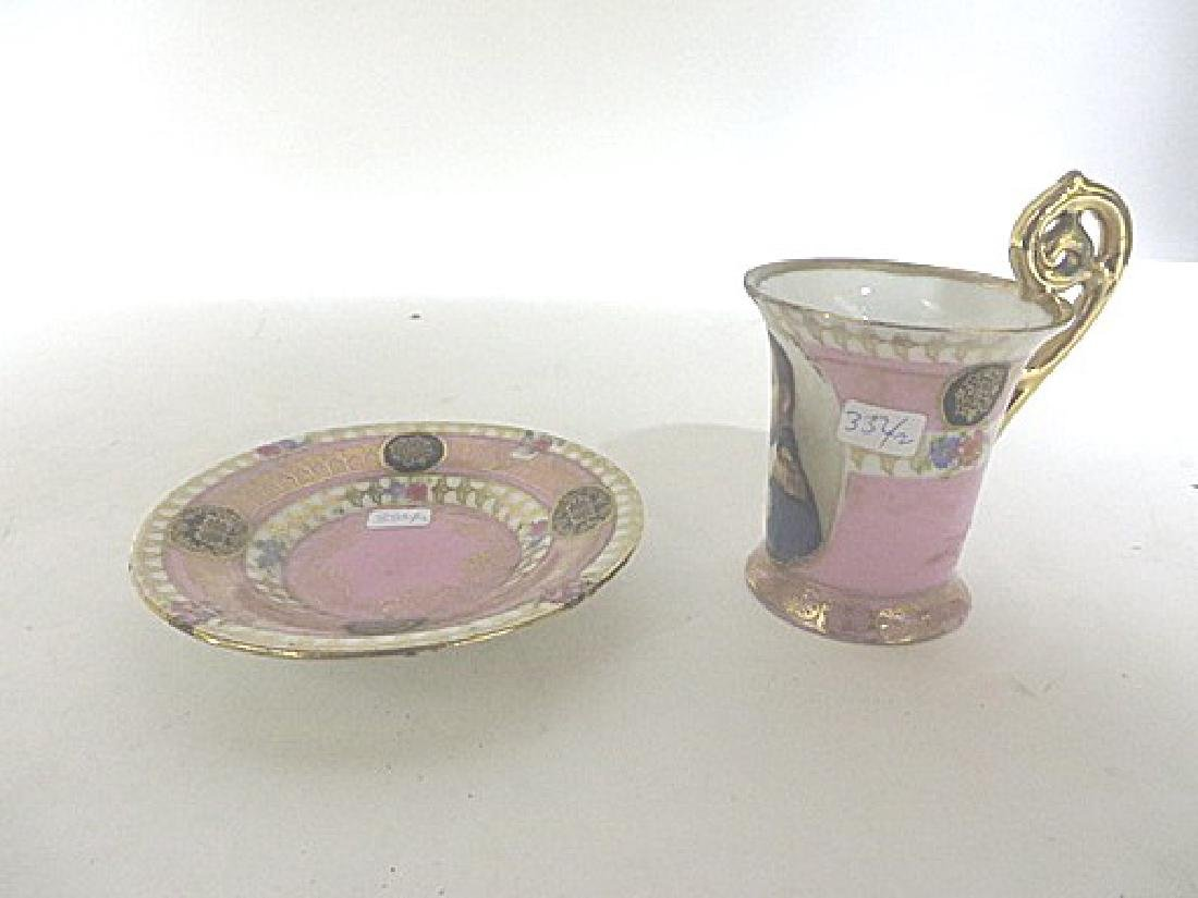 Napoleon Hand Painted Cup and Saucer - 2