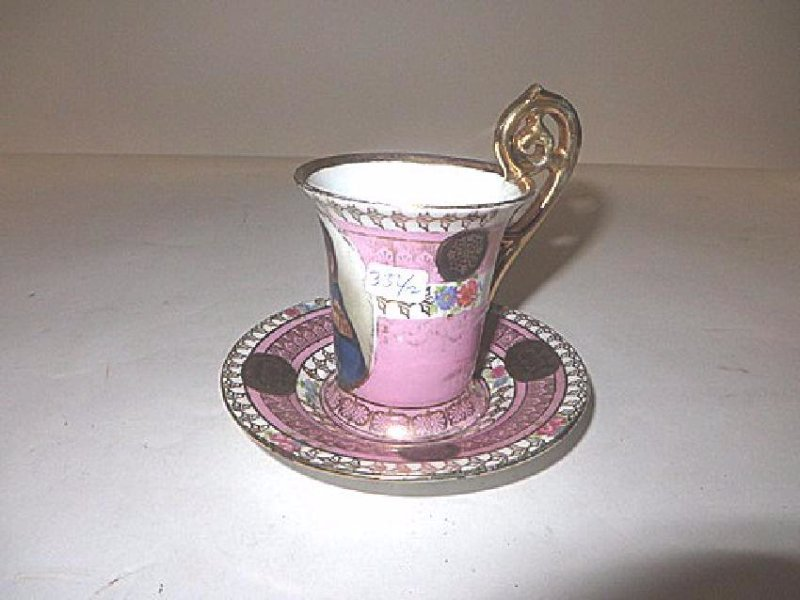 Napoleon Hand Painted Cup and Saucer - 3