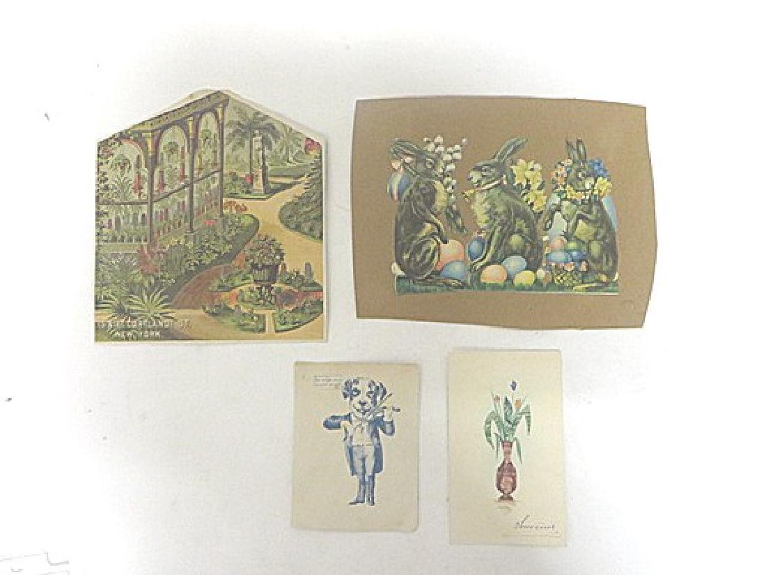 Victorian Cut Outs and Paper Ornamentations. (24)