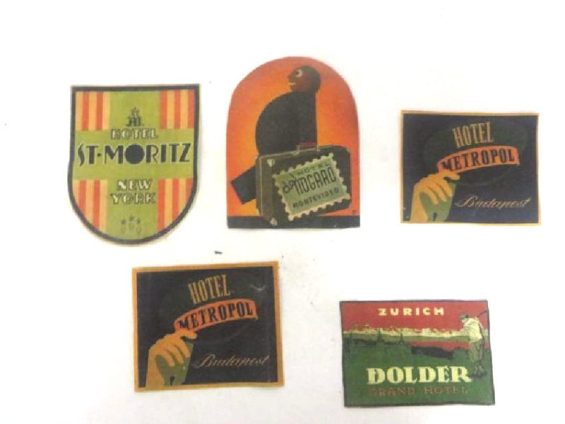 Vintage Hotel Fabric Labels (5)