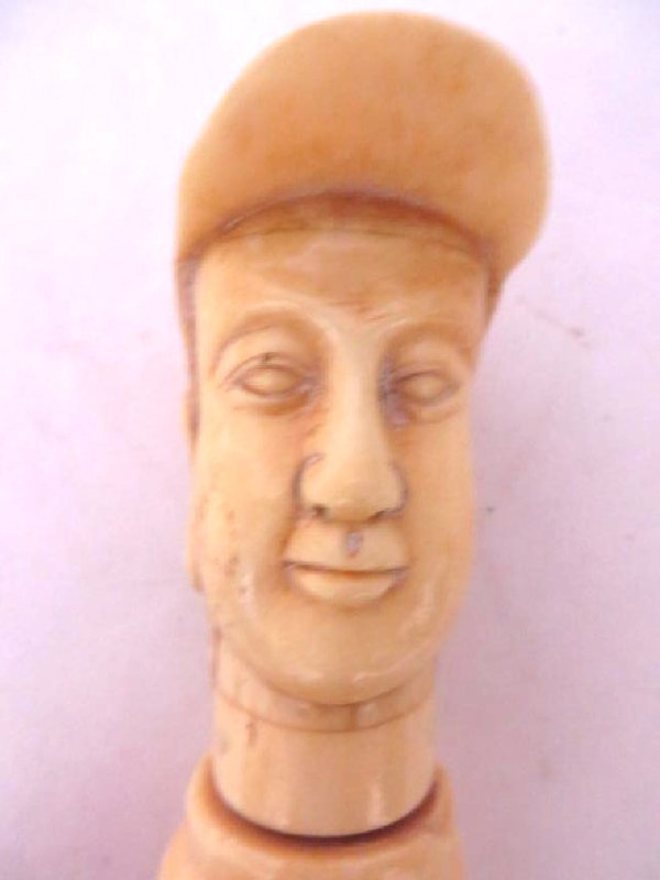 Carved Bone Cork Screw