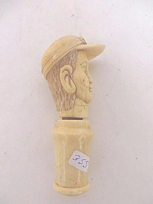 Carved Bone Cork Screw - 2
