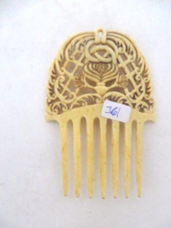 Ornate Oriental Openwork Hair Comb