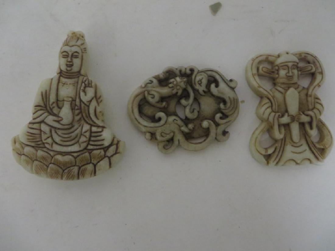 Oriental Hardstone Scroll Weights (3)