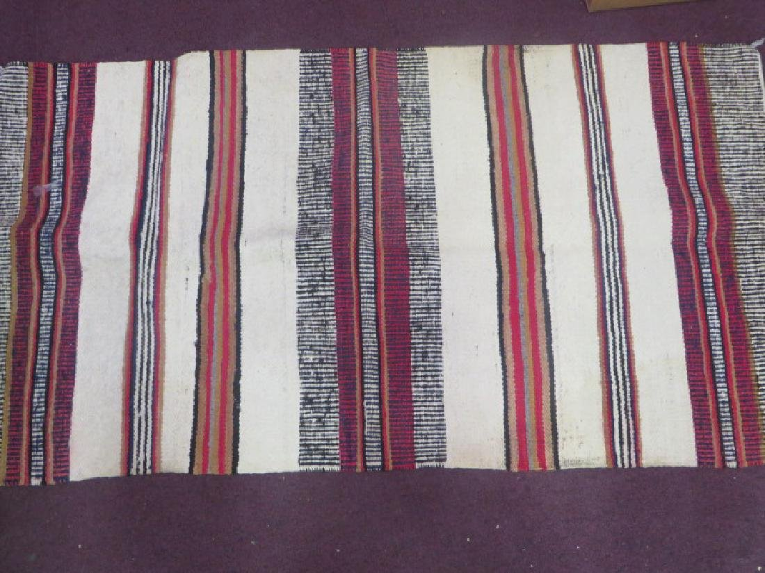 Vintage American Indian Flat Weave Carpet