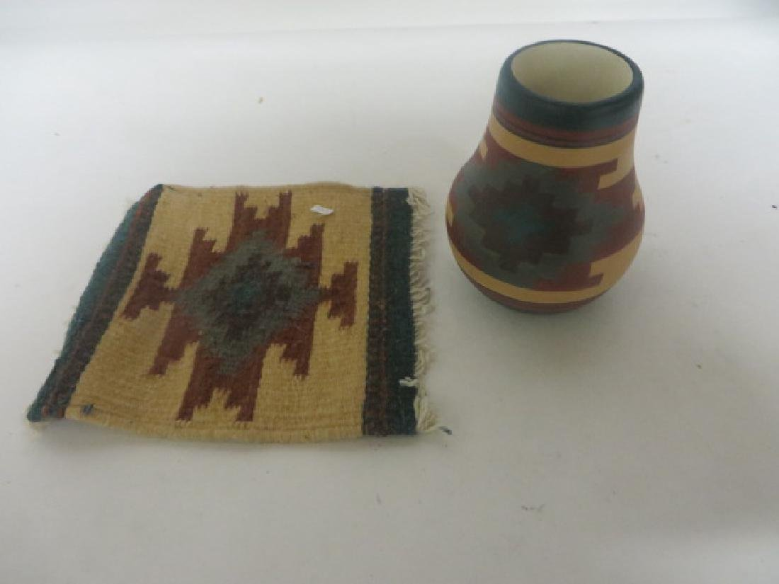 Sherry Silver Thunder Sioux Indian Pottery Vase Sgd.