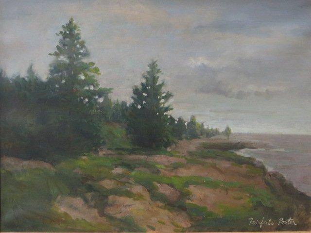 Fairfield Porter. Oil. Landscape. Signed