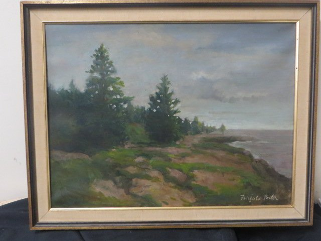 Fairfield Porter. Oil. Landscape. Signed - 2
