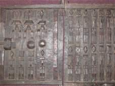 .19th C. Dogon Grainery Door Panels (2)