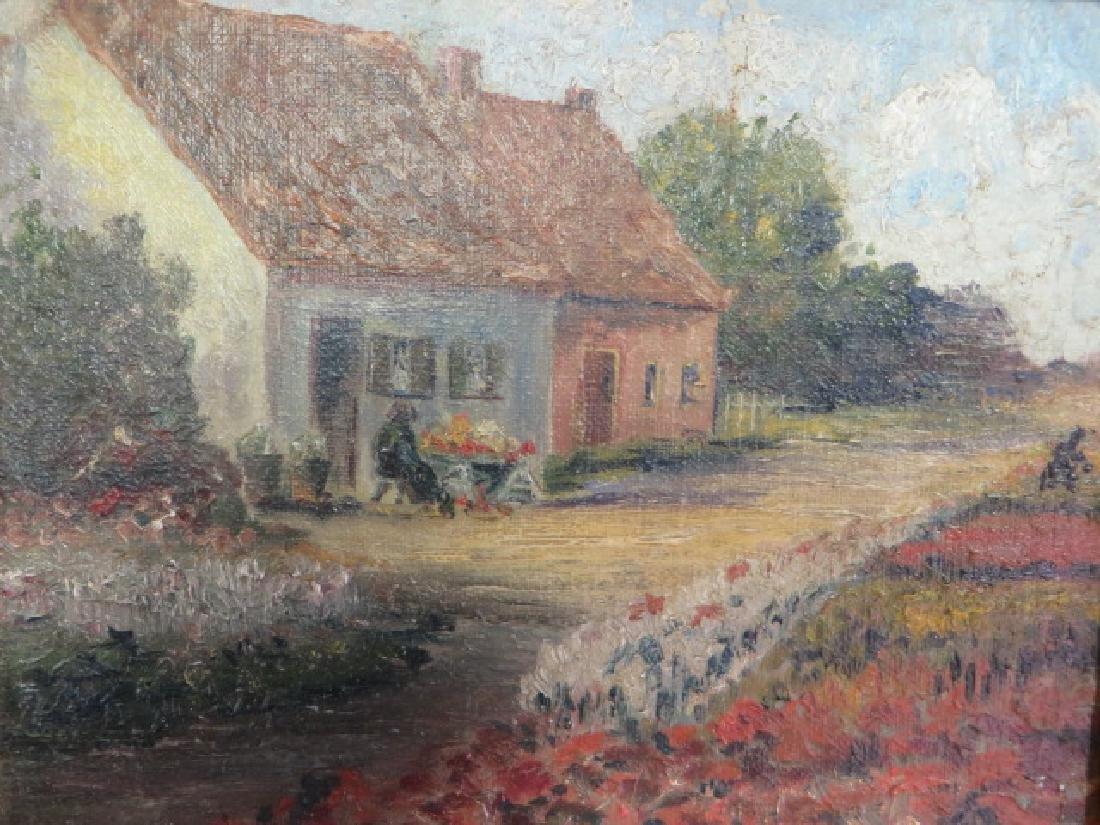 Peggy Bacon.Oil. Bensonhurst Cottage. Sgd.