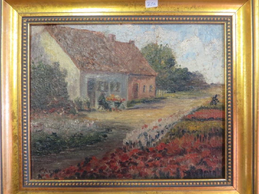 Peggy Bacon.Oil. Bensonhurst Cottage. Sgd. - 3
