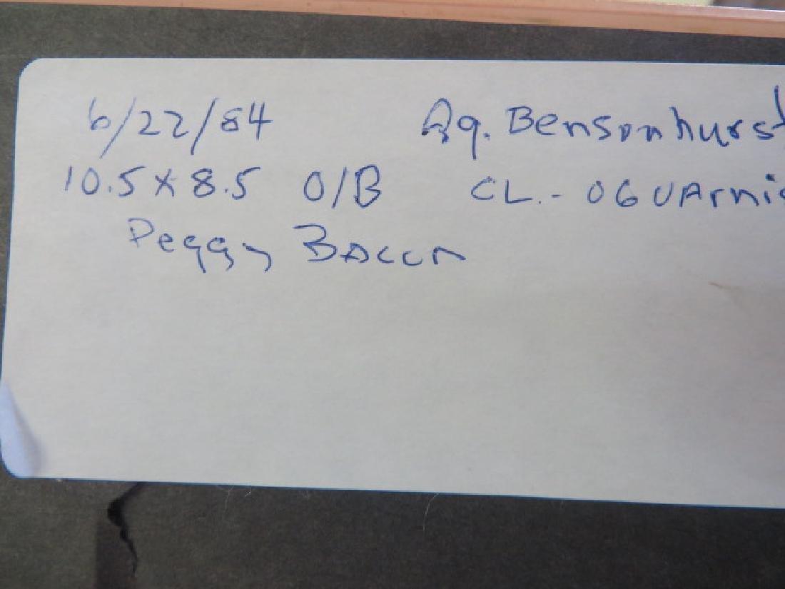 Peggy Bacon.Oil. Bensonhurst Cottage. Sgd. - 4