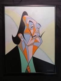 Salvadore Dali. Acrylic. Sgd. Norkin