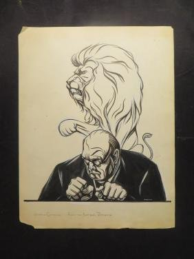 Churchill. Winston. 1952 Drawing
