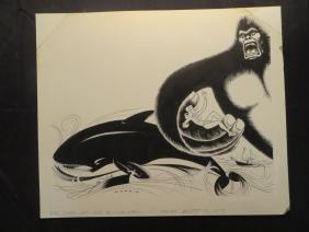 King Kong and Orca. Jessica Lange. 1977