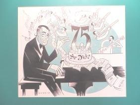 "Ellington, Duke. 75th Birthday. 1974.  19"" x 21"""