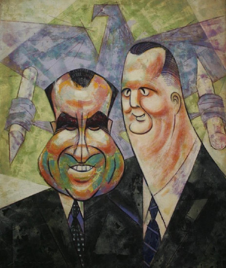 Sam Norkin Painting. Nixon & Agnew