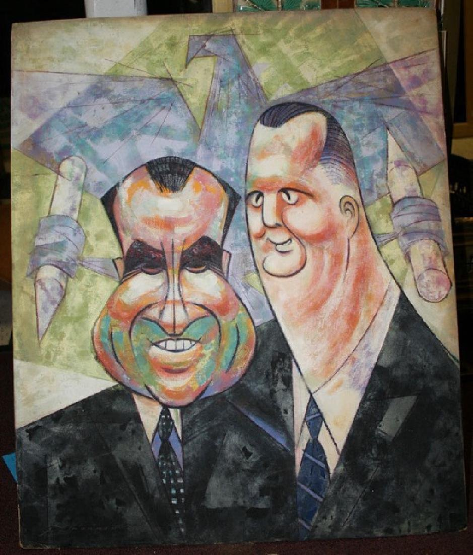 Sam Norkin Painting. Nixon & Agnew - 2