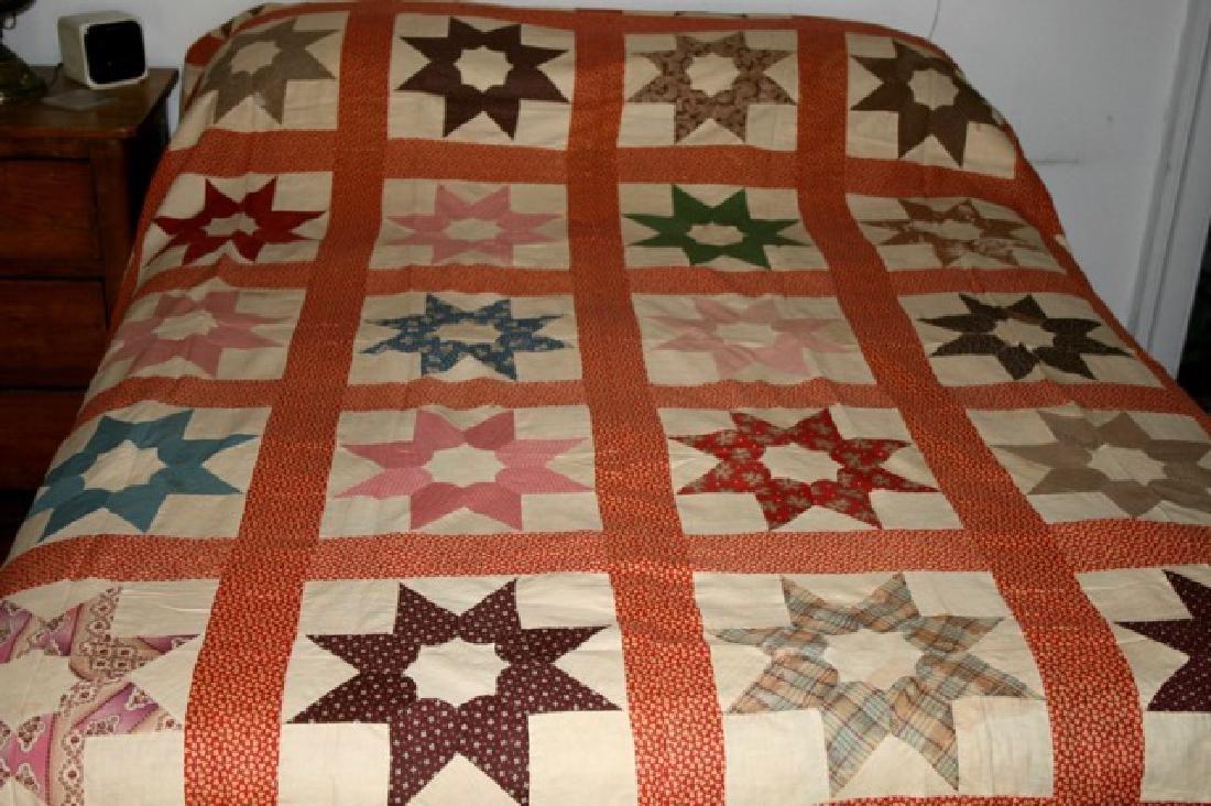 Antique Star Quilt Top North Carolina