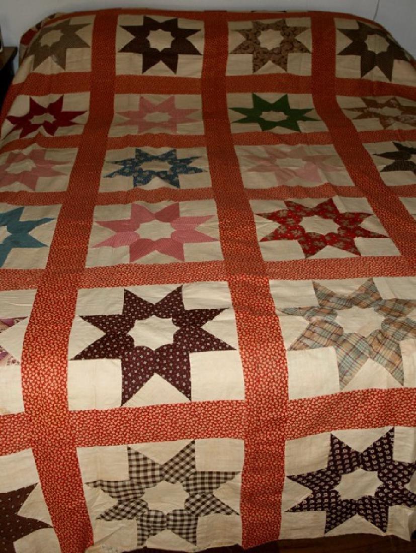 Antique Star Quilt Top North Carolina - 2