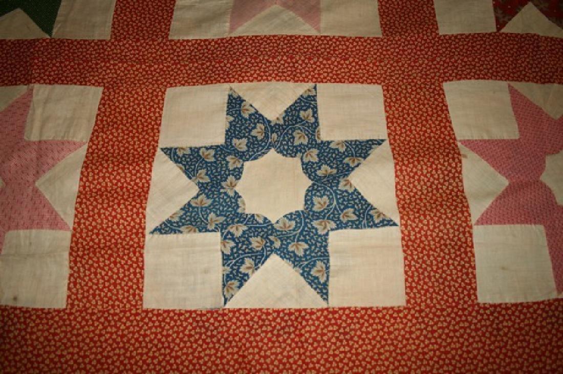 Antique Star Quilt Top North Carolina - 3