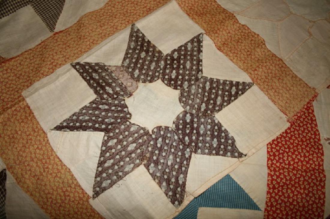 Antique Star Quilt Top North Carolina - 5