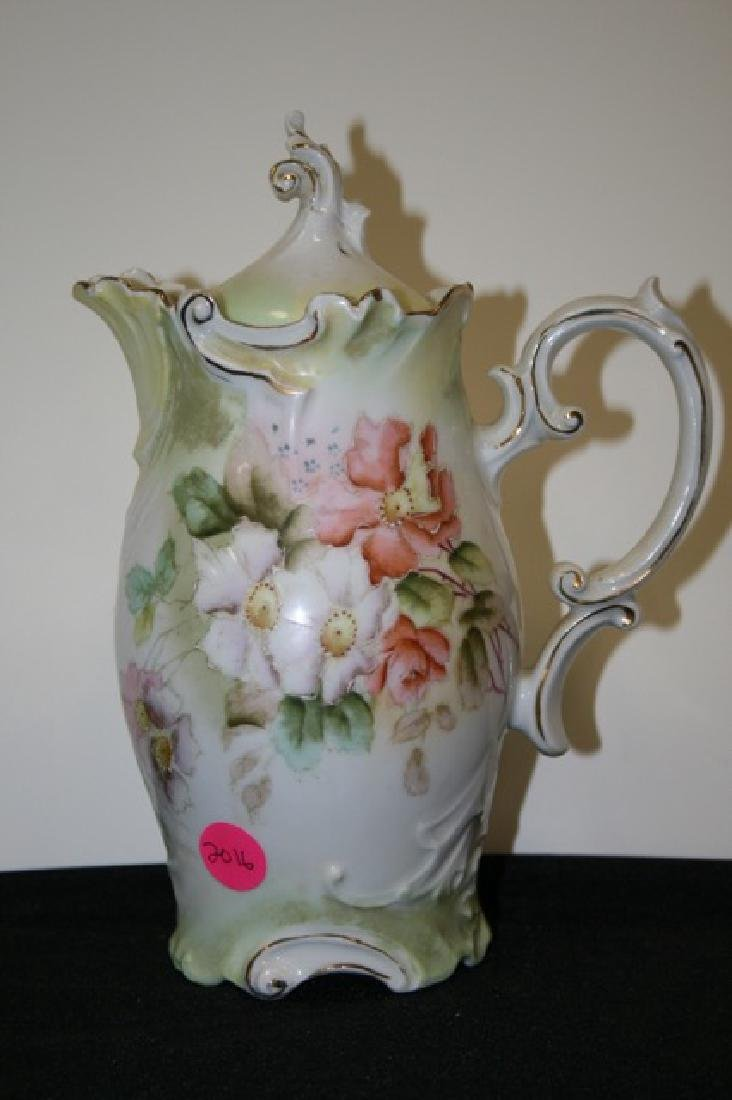 R. S. Prussia Type Floral Decorated Teapot