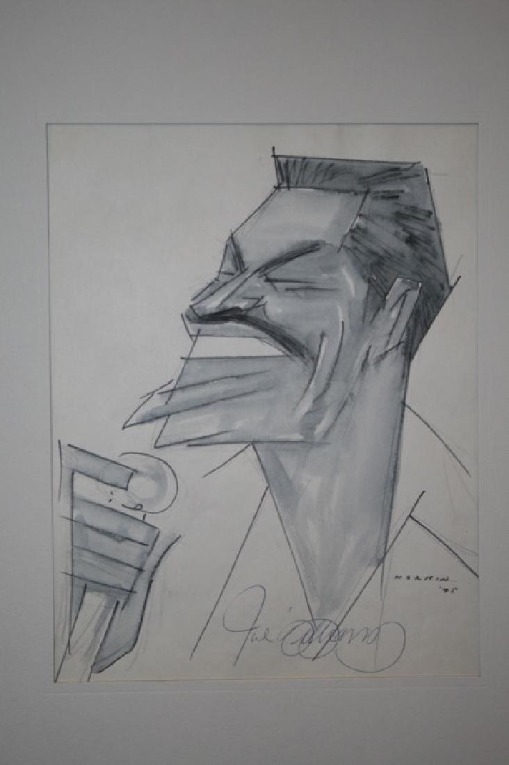 Sam Norkin Pen and Ink. Joe Williams. Signed