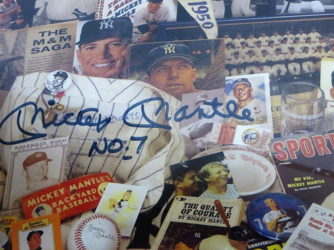 Mickey Mantle Collage Signed Mickey Mantle No.7
