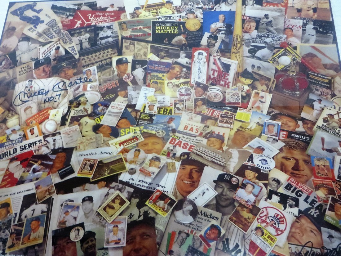 Mickey Mantle Collage Signed Mickey Mantle No.7 - 4