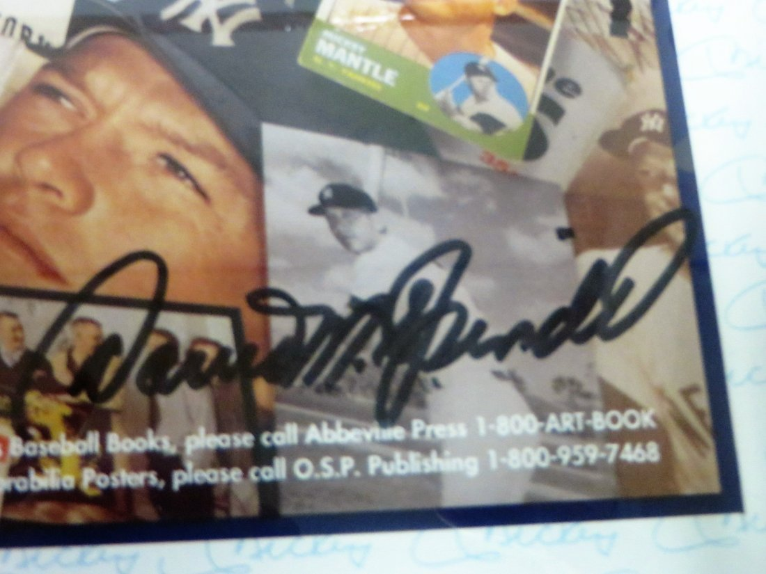 Mickey Mantle Collage Signed Mickey Mantle No.7 - 6