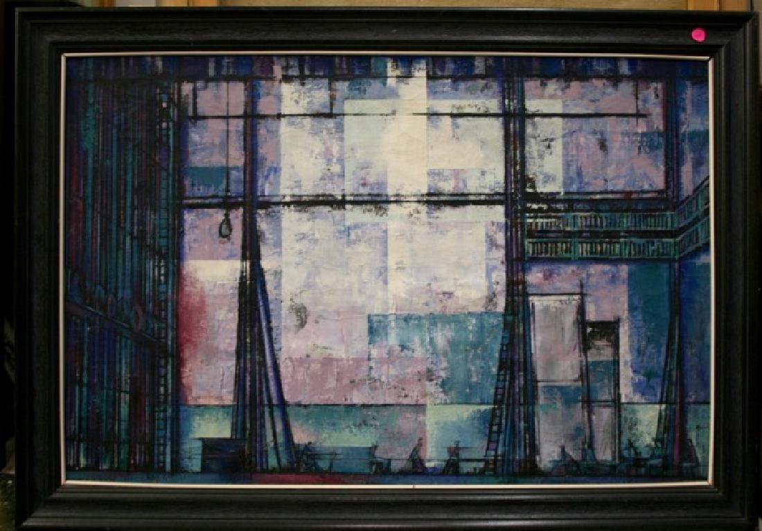 Sam Norkin. Painting. City Windows. Signed