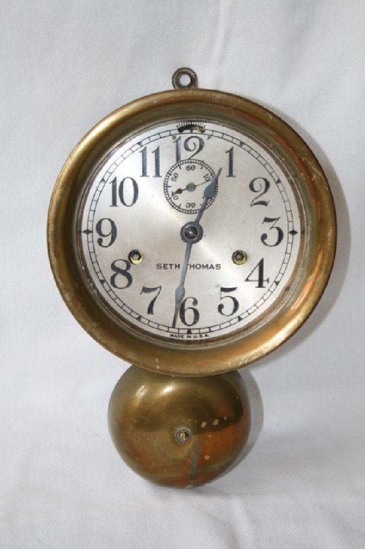 Seth Thomas Brass Ship's Clock