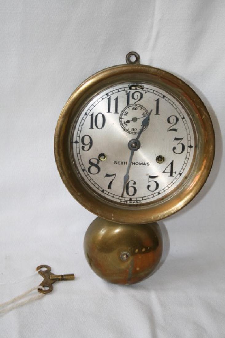 Seth Thomas Brass Ship's Clock - 2